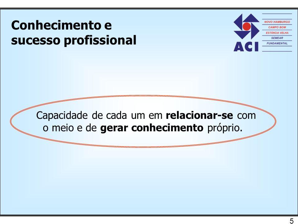 Conhecimento e sucesso profissional
