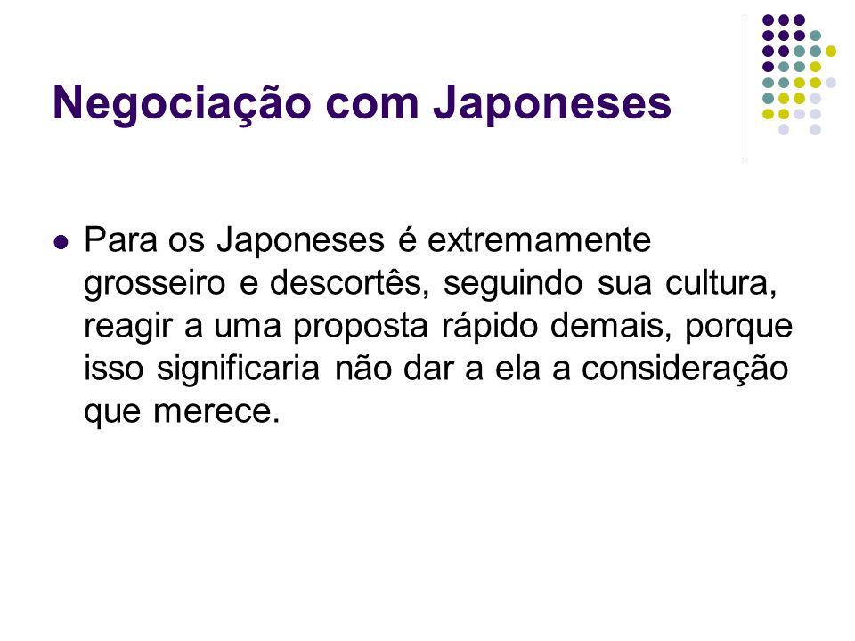 Negociação com Japoneses