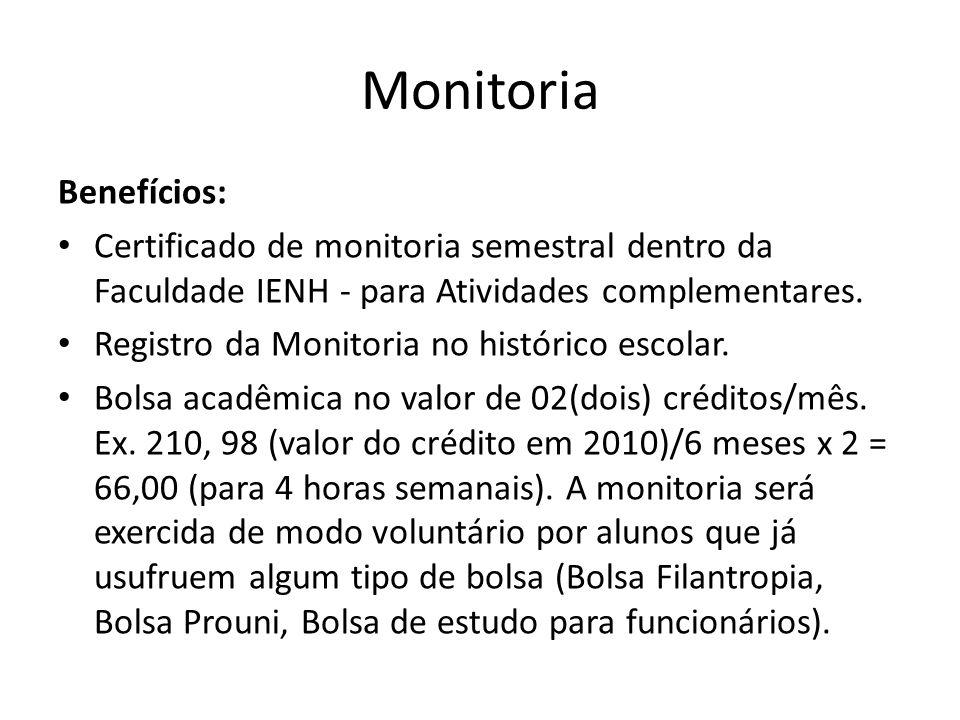 Monitoria Benefícios:
