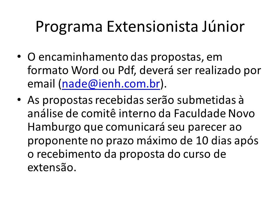 Programa Extensionista Júnior