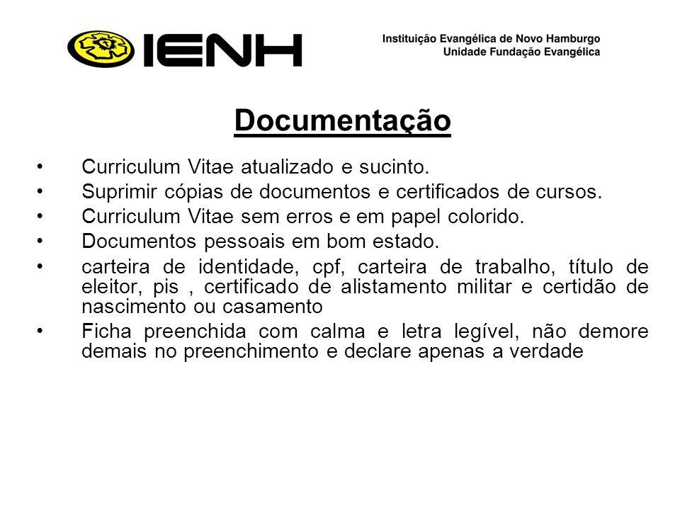 Documentação Curriculum Vitae atualizado e sucinto.