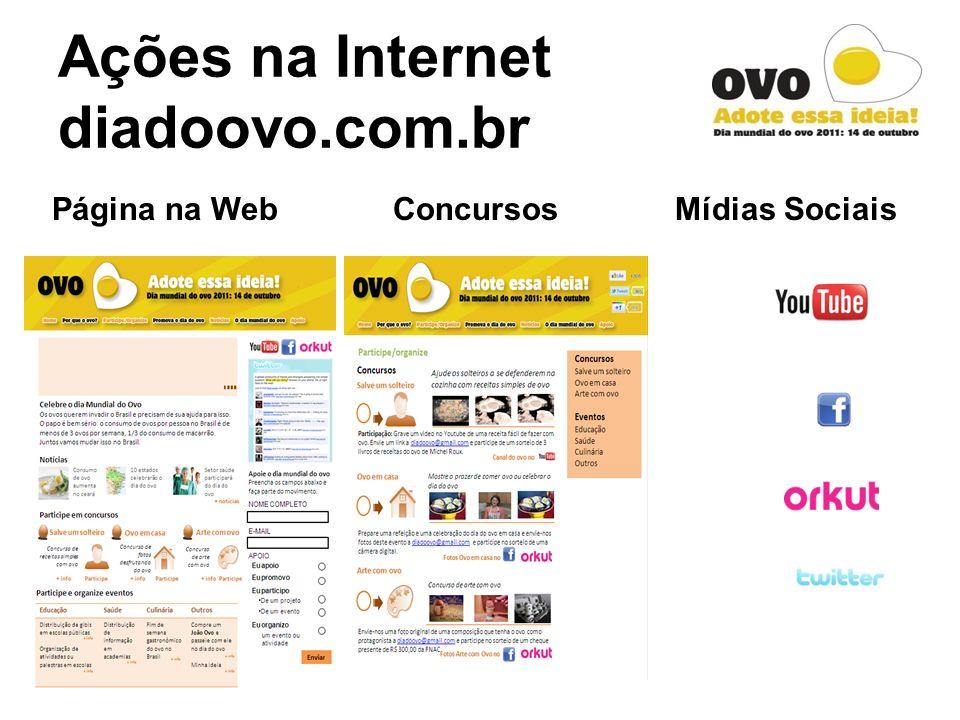 Ações na Internet diadoovo.com.br