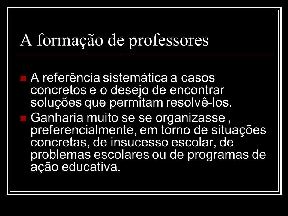 A formação de professores
