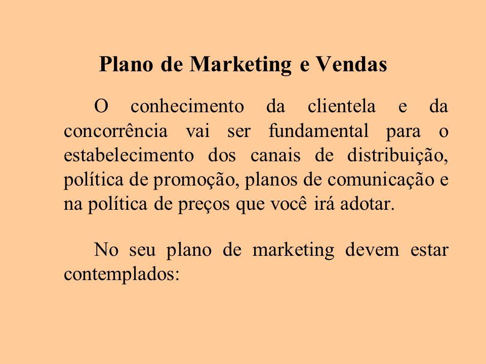Plano de Marketing e Vendas