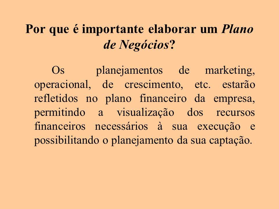 Por que é importante elaborar um Plano de Negócios