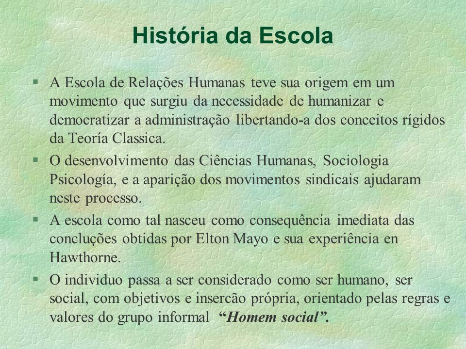 História da Escola