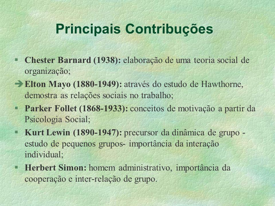 Principais Contribuções
