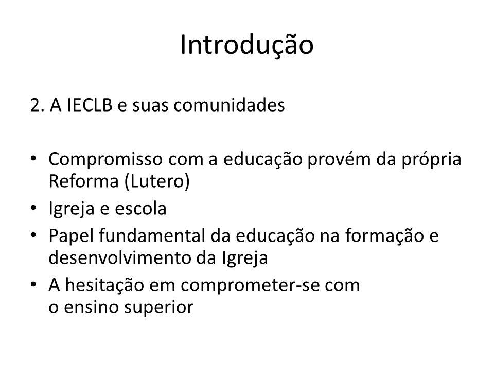 Introdução 2. A IECLB e suas comunidades