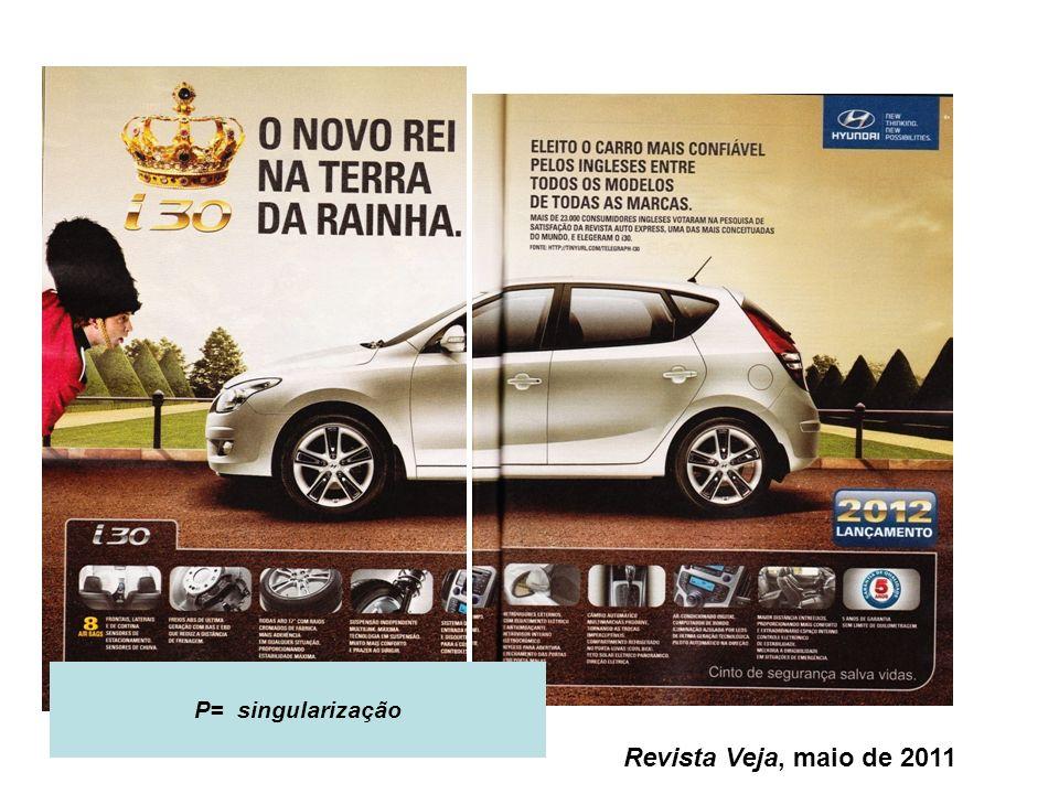 P= singularização Revista Veja, maio de 2011