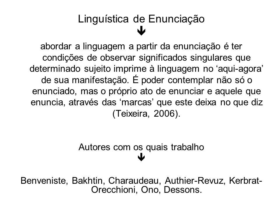 Linguística de Enunciação 