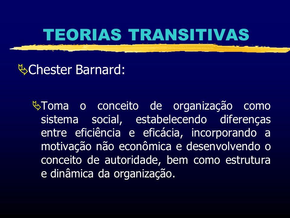 TEORIAS TRANSITIVAS Chester Barnard: