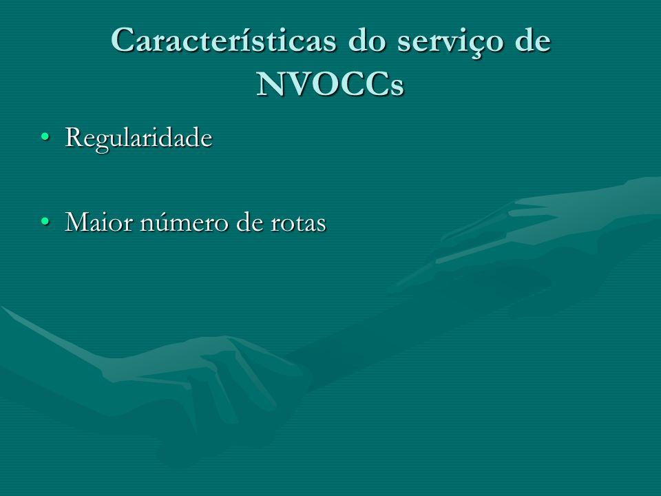 Características do serviço de NVOCCs