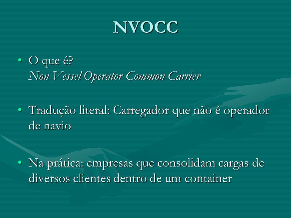 NVOCC O que é Non Vessel Operator Common Carrier