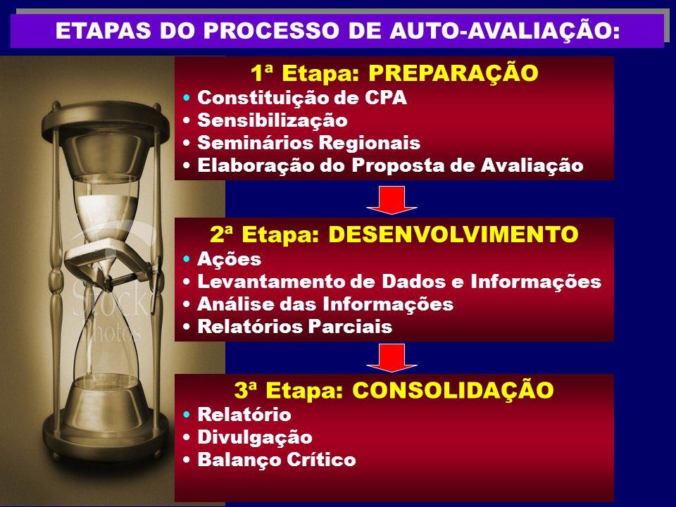 ETAPAS DO PROCESSO DE AUTO-AVALIAÇÃO: