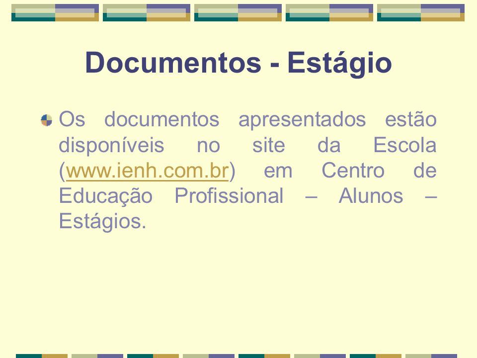Documentos - Estágio