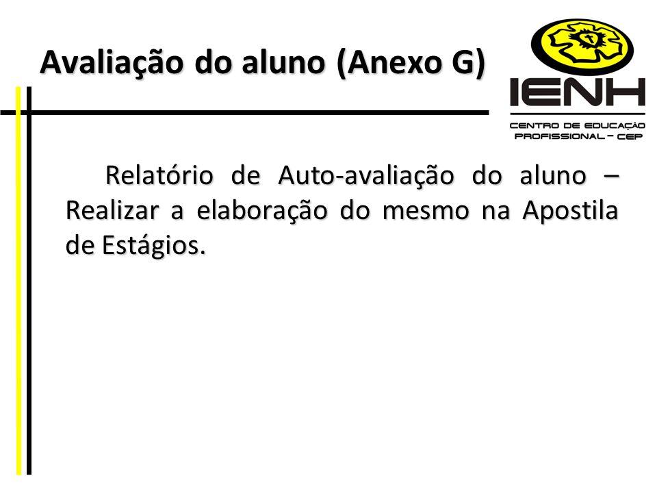 Avaliação do aluno (Anexo G)