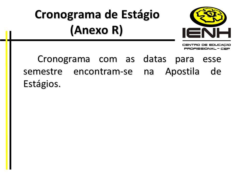 Cronograma de Estágio (Anexo R)