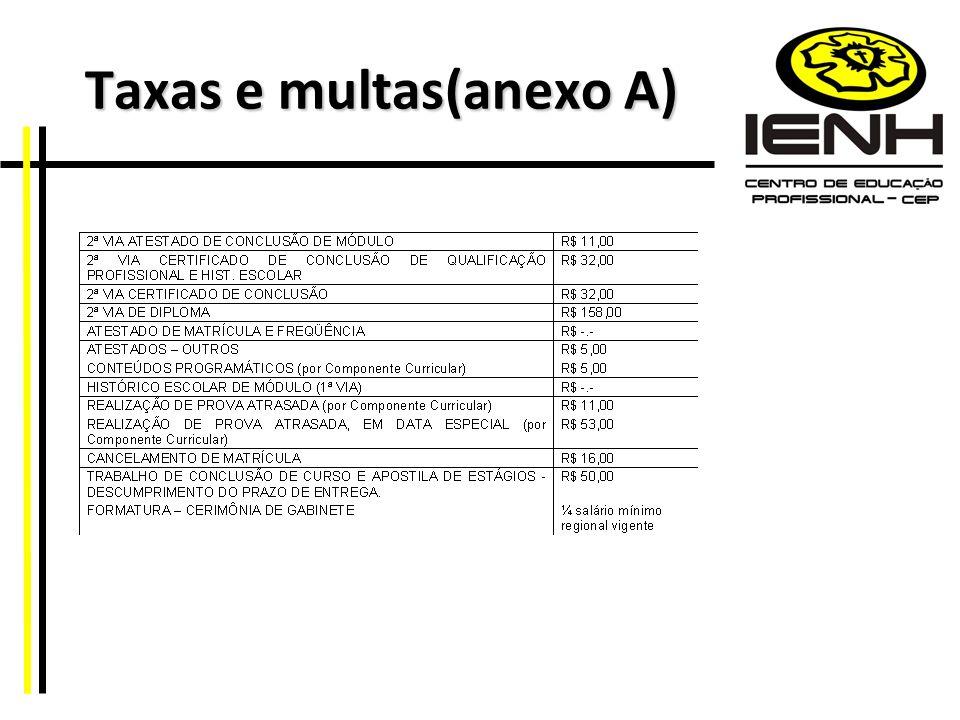 Taxas e multas(anexo A)