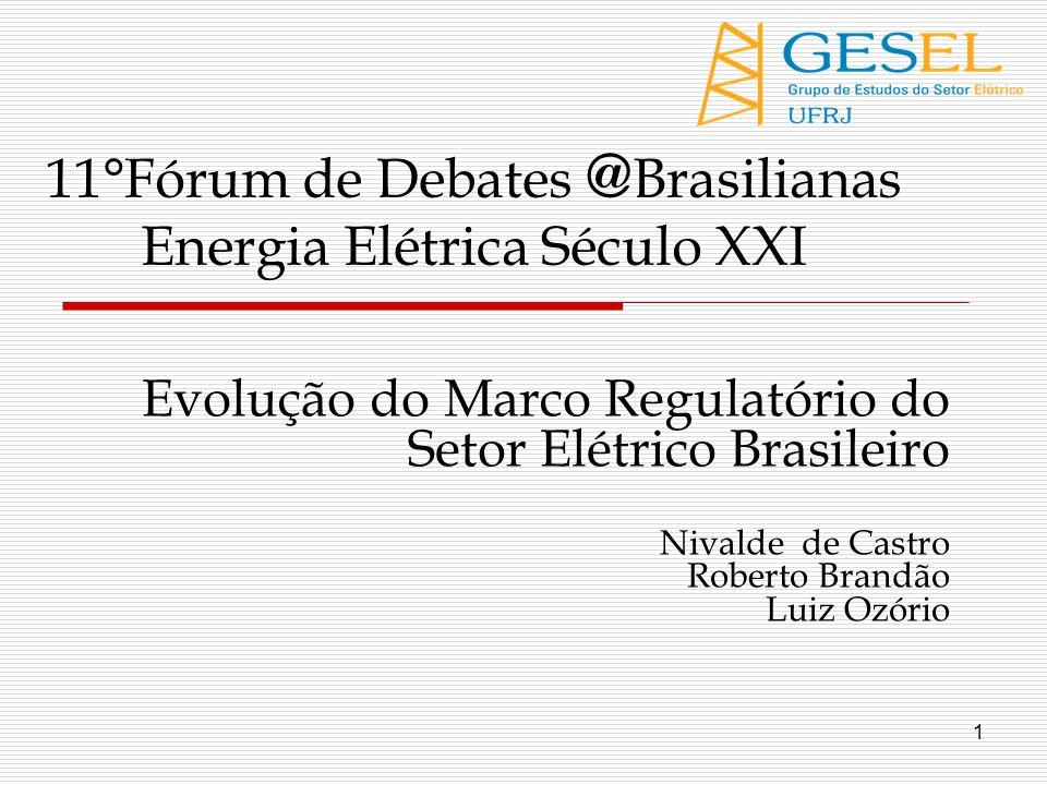 11°Fórum de Debates @Brasilianas Energia Elétrica Século XXI