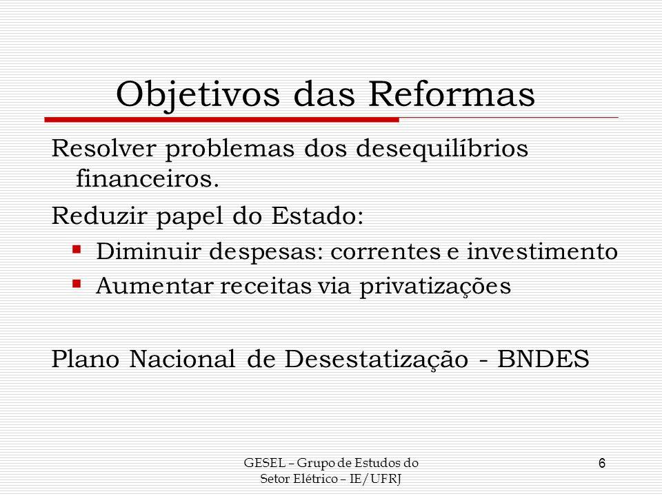 Objetivos das Reformas