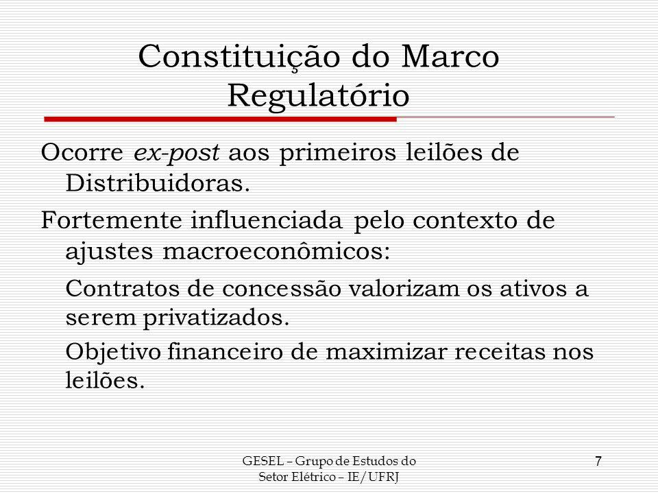 Constituição do Marco Regulatório