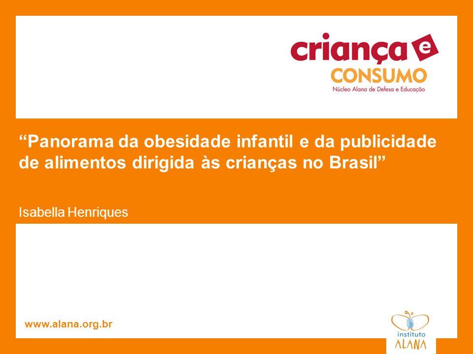 Panorama da obesidade infantil e da publicidade de alimentos dirigida às crianças no Brasil