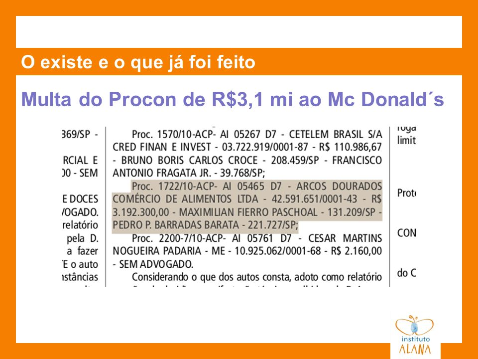 Multa do Procon de R$3,1 mi ao Mc Donald´s