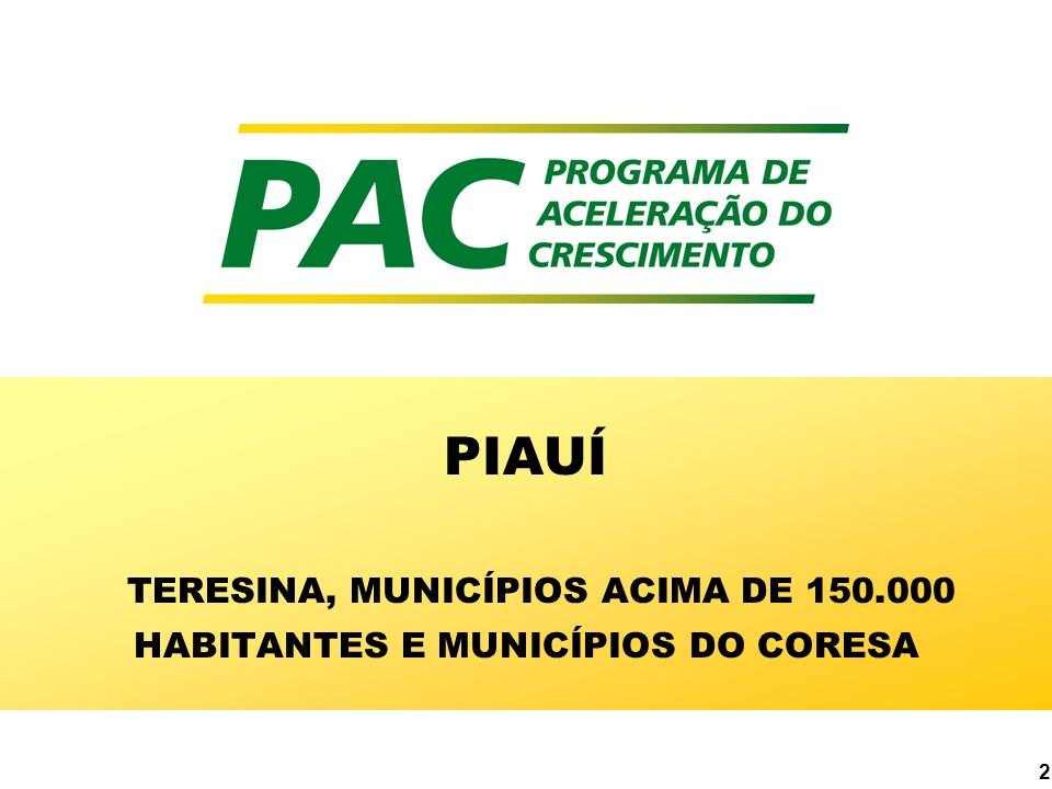 PIAUÍ TERESINA, MUNICÍPIOS ACIMA DE 150