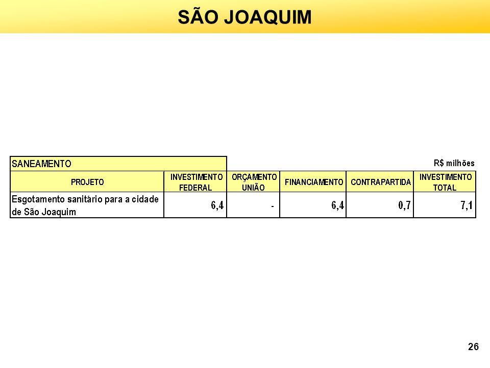 SÃO JOAQUIM 26