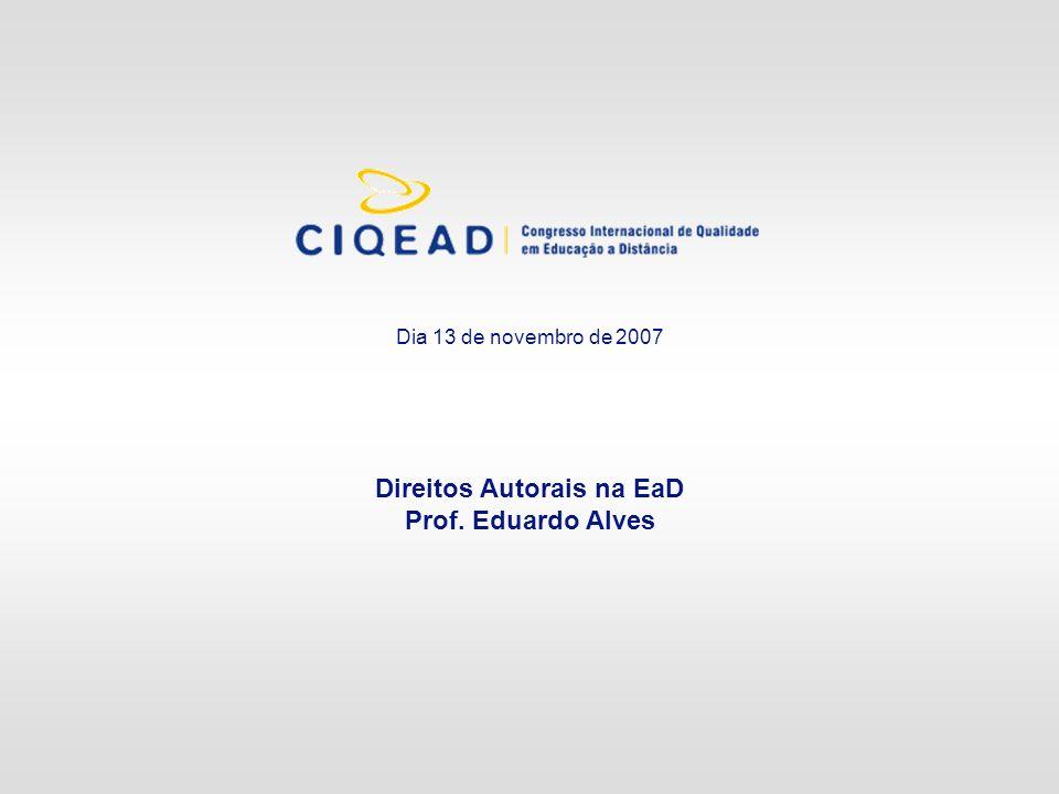Direitos Autorais na EaD Prof. Eduardo Alves