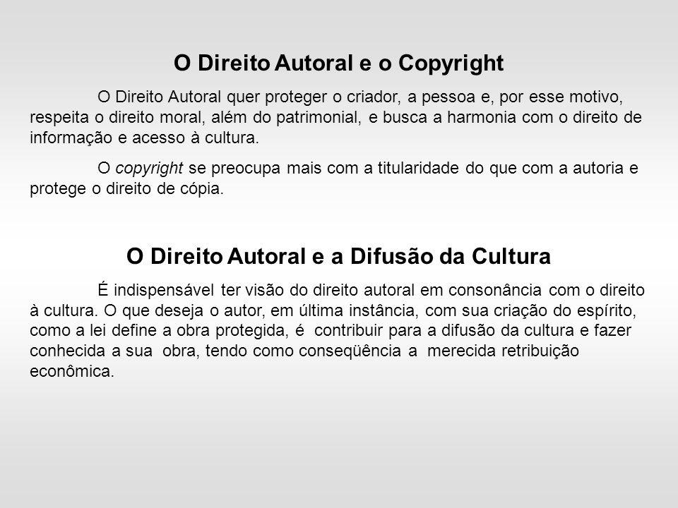 O Direito Autoral e o Copyright