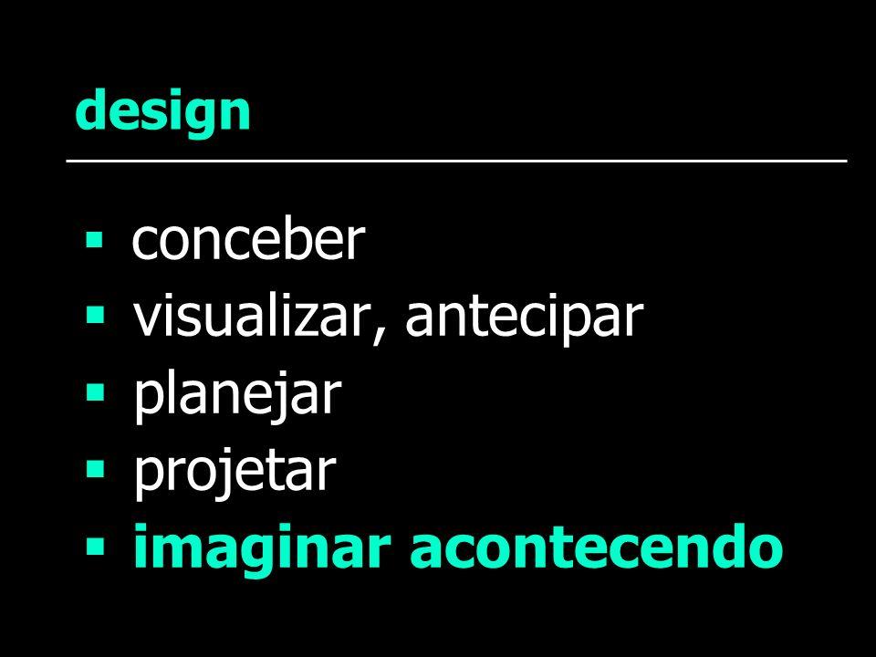 visualizar, antecipar planejar projetar imaginar acontecendo design