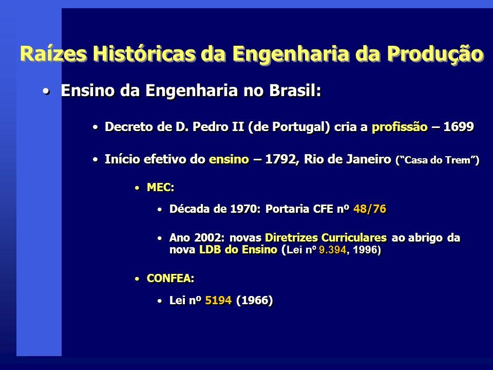 Raízes Históricas da Engenharia da Produção