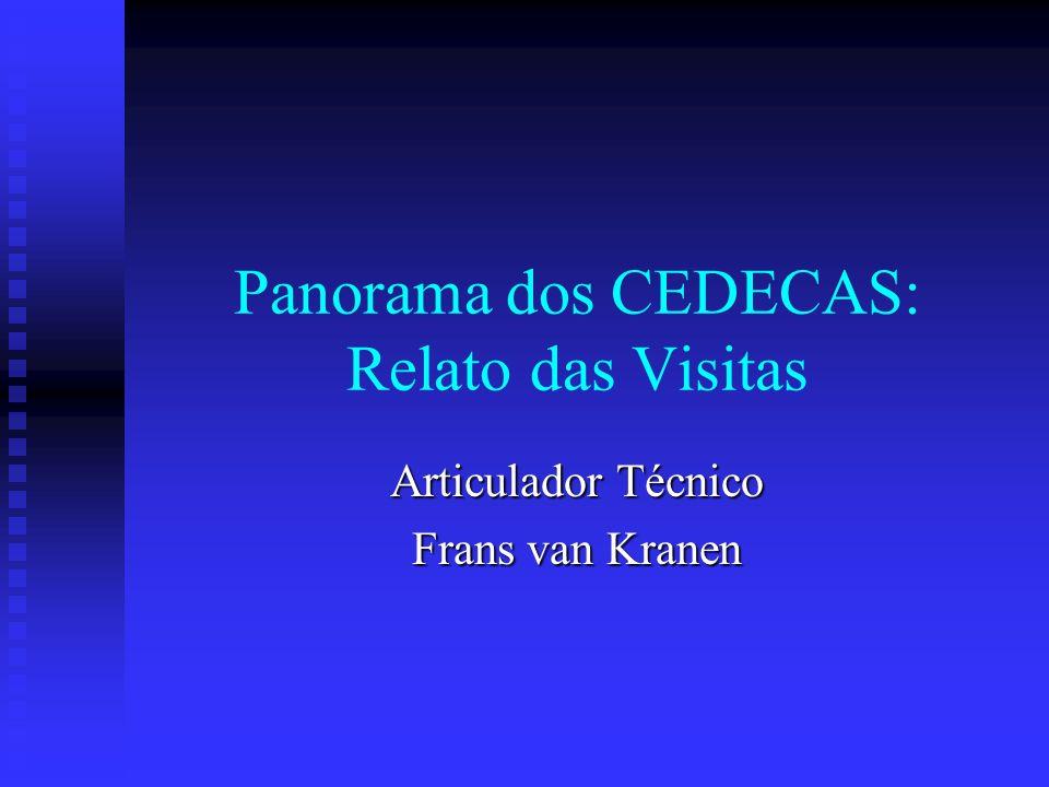 Panorama dos CEDECAS: Relato das Visitas