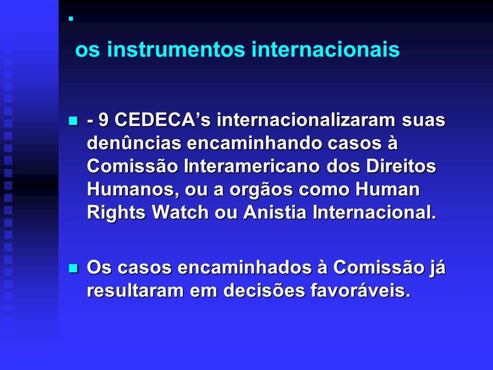 . os instrumentos internacionais