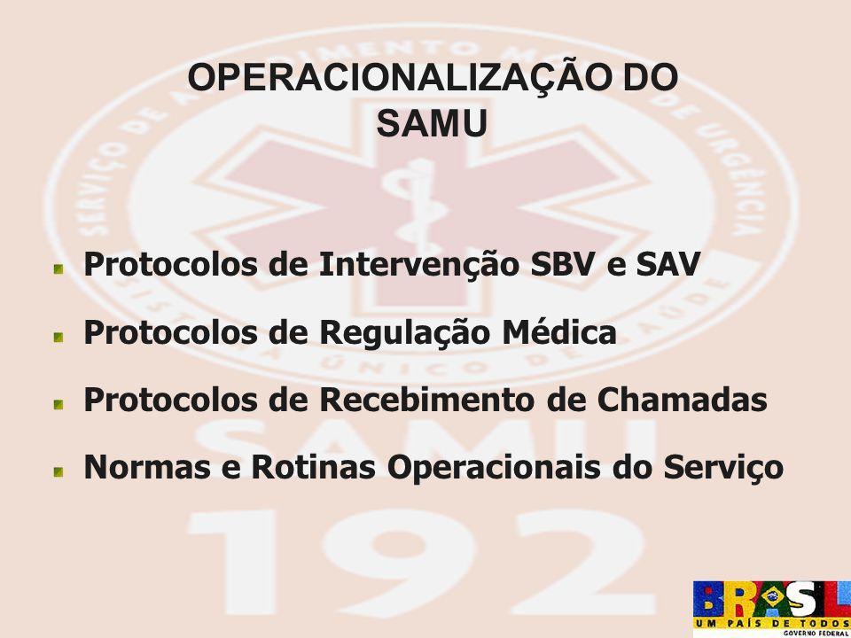 OPERACIONALIZAÇÃO DO SAMU