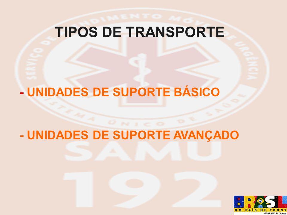 TIPOS DE TRANSPORTE - UNIDADES DE SUPORTE BÁSICO