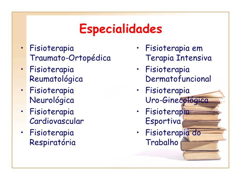 Especialidades Fisioterapia Traumato-Ortopédica