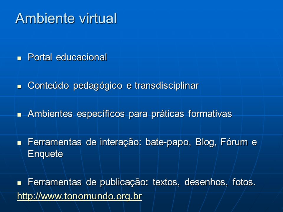 Ambiente virtual Portal educacional