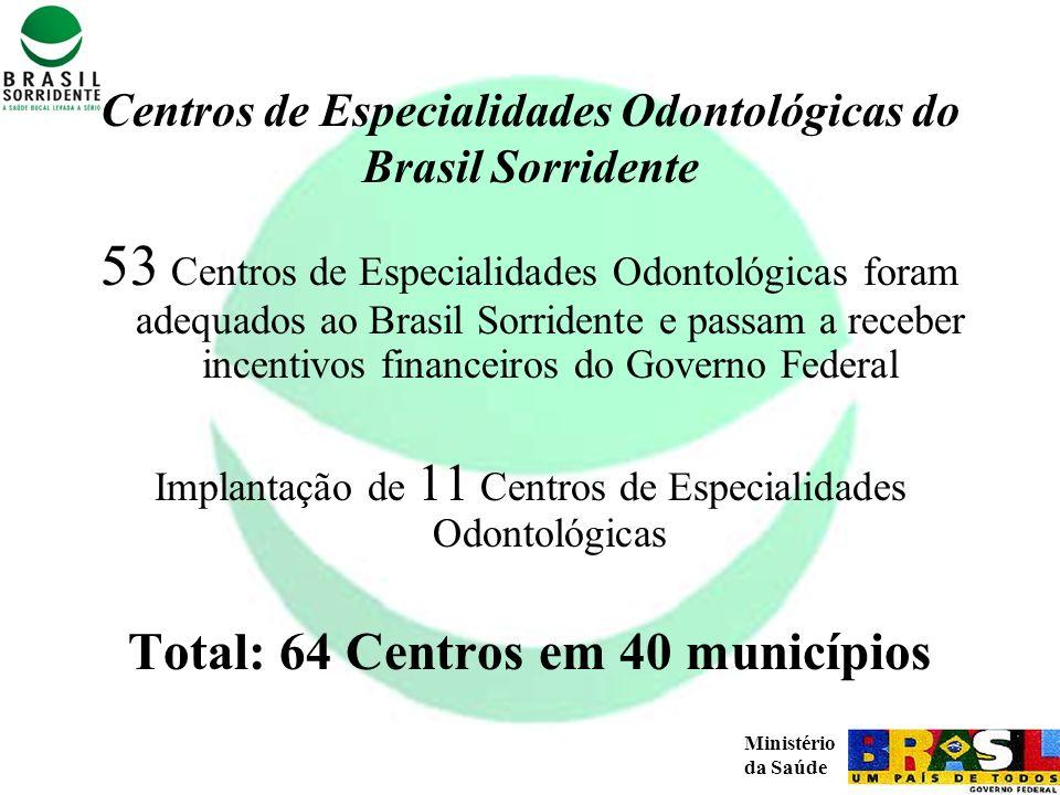 Centros de Especialidades Odontológicas do Brasil Sorridente