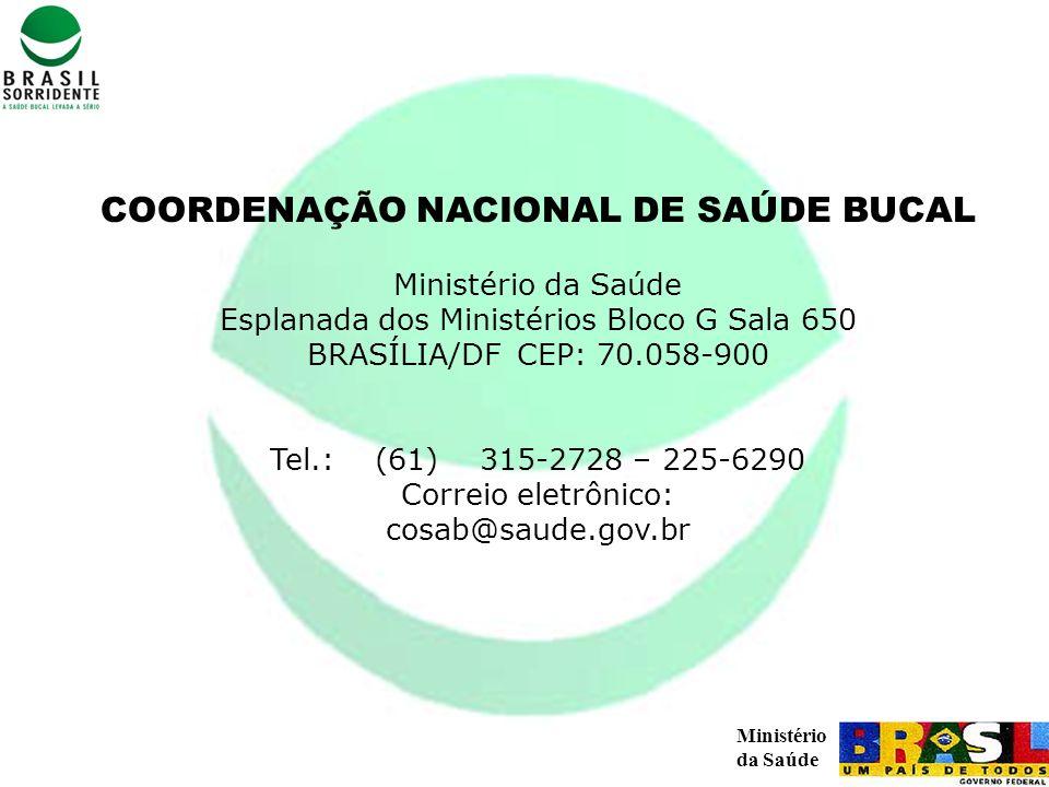 COORDENAÇÃO NACIONAL DE SAÚDE BUCAL