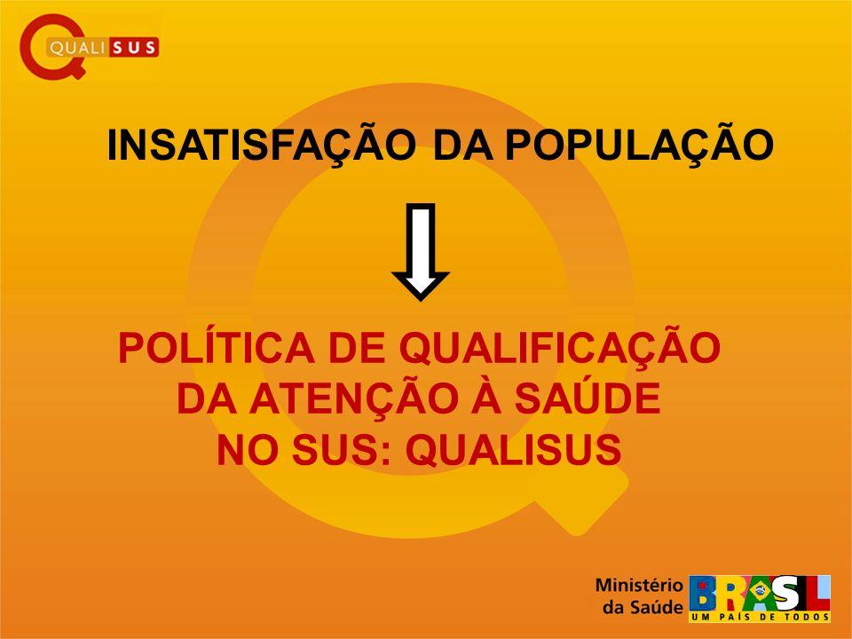 POLÍTICA DE QUALIFICAÇÃO DA ATENÇÃO À SAÚDE NO SUS: QUALISUS