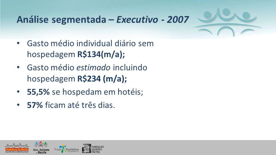 Análise segmentada – Executivo - 2007