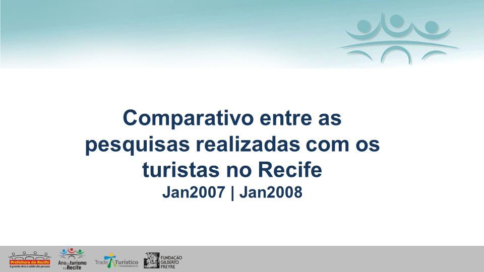 Comparativo entre as pesquisas realizadas com os turistas no Recife
