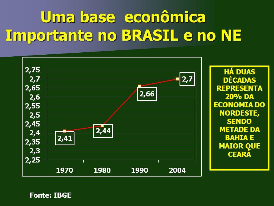 Uma base econômica Importante no BRASIL e no NE