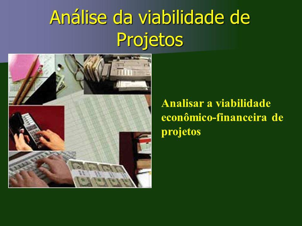 Análise da viabilidade de Projetos
