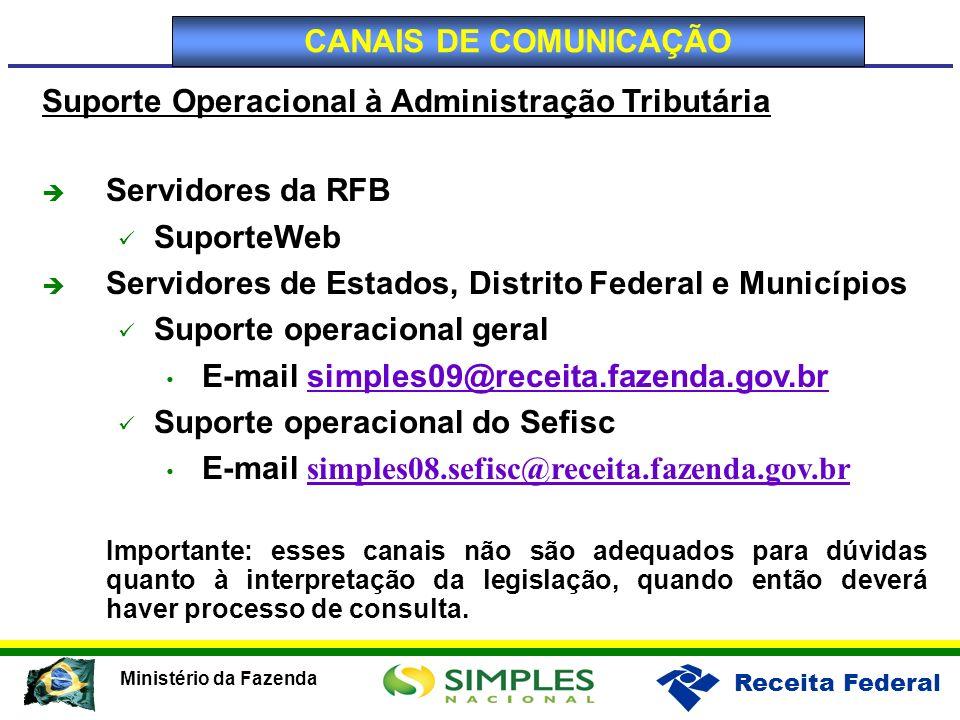 Suporte Operacional à Administração Tributária Servidores da RFB