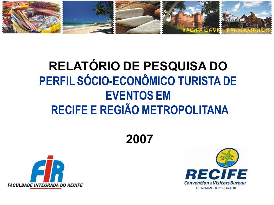 RELATÓRIO DE PESQUISA DO PERFIL SÓCIO-ECONÔMICO TURISTA DE EVENTOS EM
