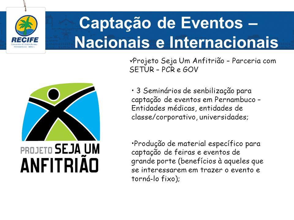 Captação de Eventos – Nacionais e Internacionais