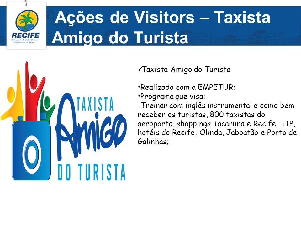 Ações de Visitors – Taxista Amigo do Turista